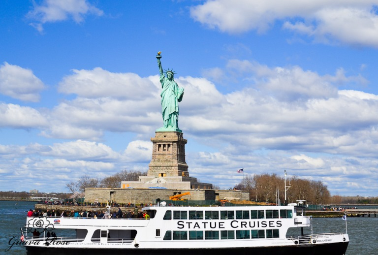 Statue of Liberty, front view from boat