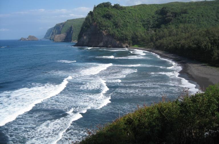11. La playa mas oscura del mundo hawaii