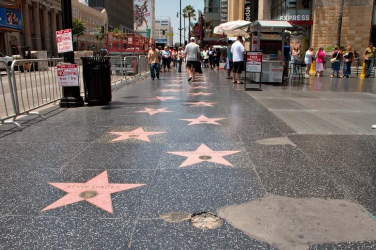 8. Paseo de la Fama de Hollywood