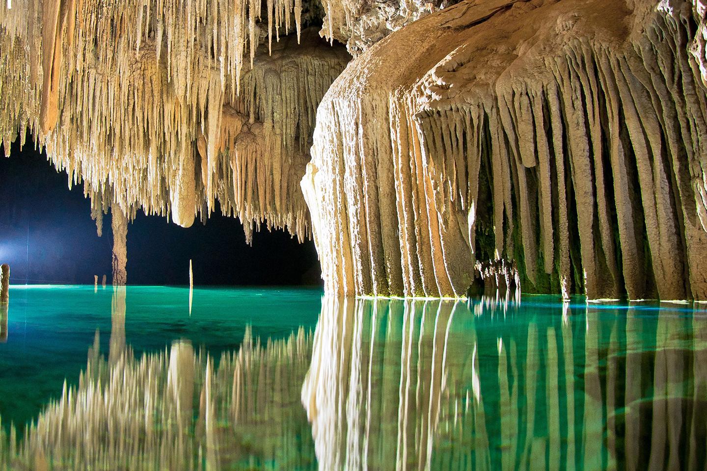 río secreto en Quintana Roo