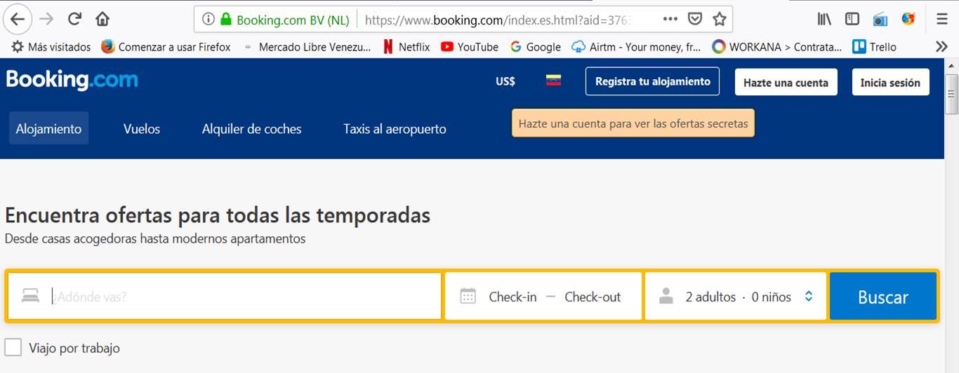 reservas en booking